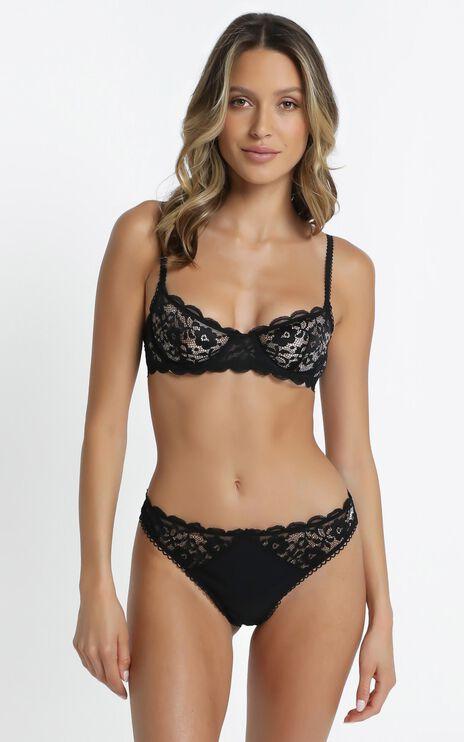 Kat The Label - Annie Underwear in Black Lace