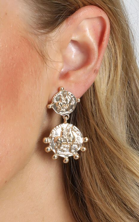 JT Luxe - Verona Drop Earrings in Gold