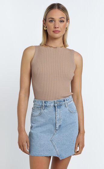Laylah Knit Top in Beige
