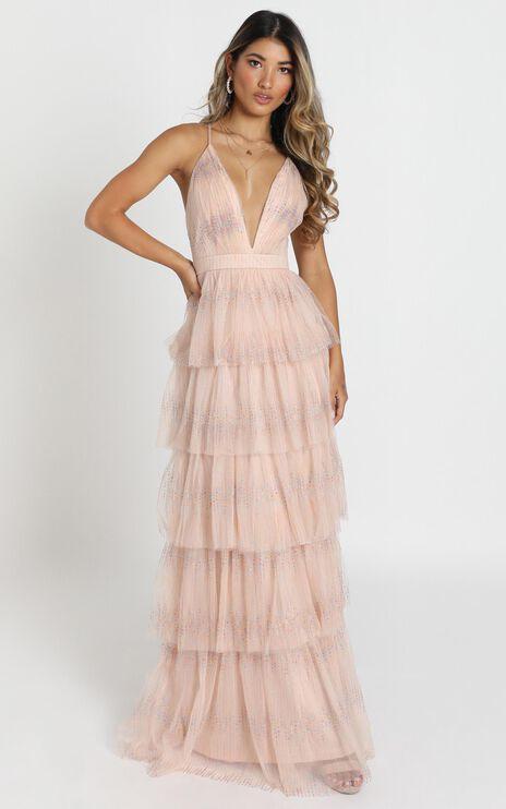 Hazel Maxi Dress In Blush
