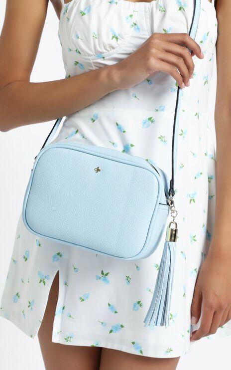 Peta and Jain - Gracie Shoulder Bag in Baby Blue Pebble