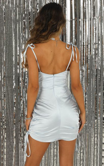 Secretly You Knew dress in blue satin - 14 (XL), Blue, hi-res image number null