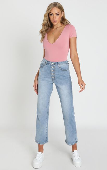 Becky Jeans In bright blue wash - 4 (XXS), Blue, hi-res image number null