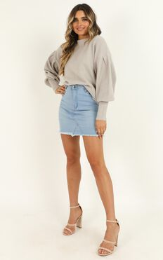 Made For This Moment Knit Jumper In Grey