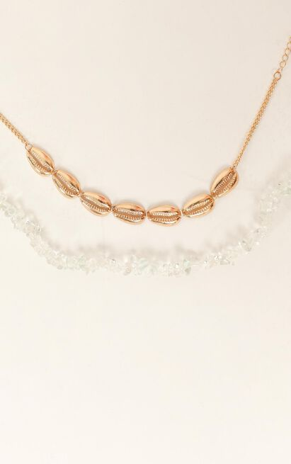 Waiting On The Moment Layered Necklace In Gold, , hi-res image number null