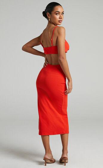 Britter Midi Dress in Oxy Red