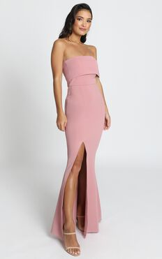 Glamour Girl Maxi Dress In Dusty Rose