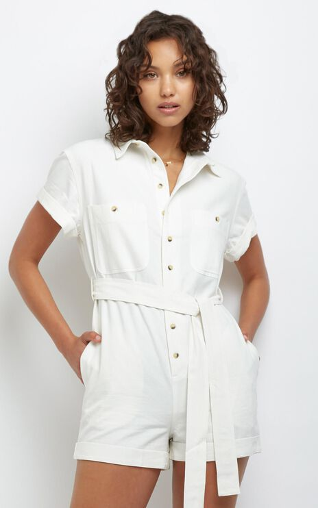 Rollas - Horizon Playsuit in Vintage White