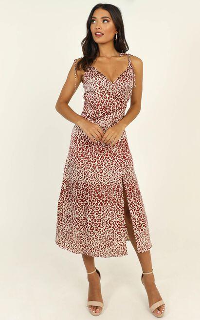 Strict Deadline dress in leopard print - 12 (L), Brown, hi-res image number null