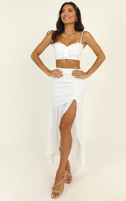 Start Of Us two piece set in white - 14 (XL), White, hi-res image number null