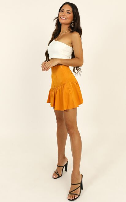 Here For A Good Time Mini Skirt In mustard - 14 (XL), Mustard, hi-res image number null