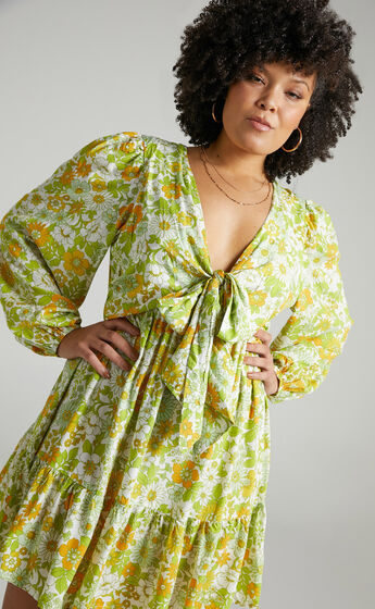 Sabella Rayon Dress in Harmony Floral