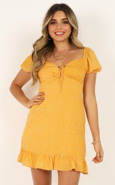 Seeds Of Doubt Dress In Mustard