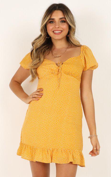 Seeds Of Doubt Dress in Mustard