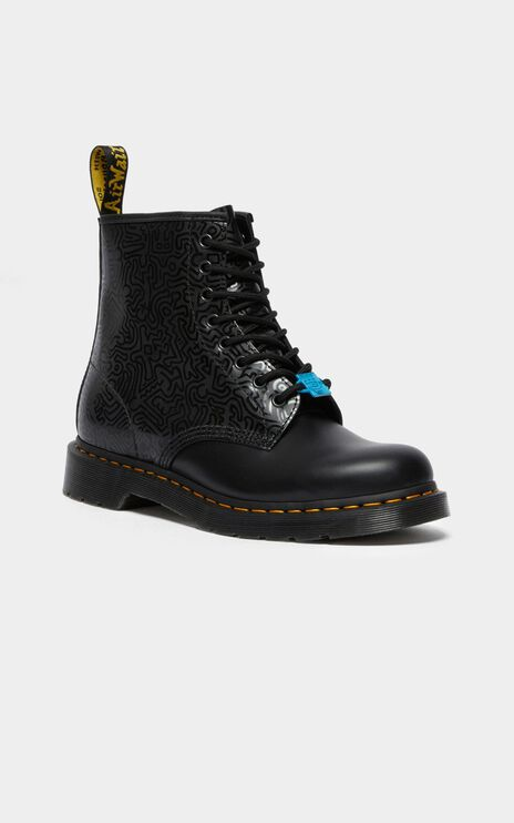 Dr. Martens - 1460 Keith Haring 8 Eye Boot in Black Smooth