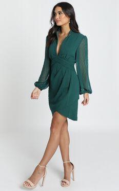 Char Dress In Emerald