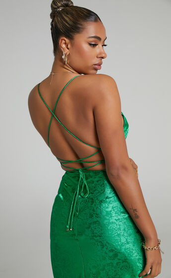 Runaway The Label - Electra Slip Dress in Green