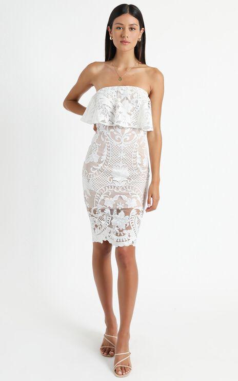 Senorita Dress In White Lace