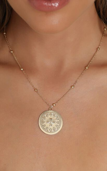 Dominica Coin Necklace In Gold, , hi-res image number null