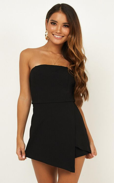 Caught My Eyes Playsuit In Black