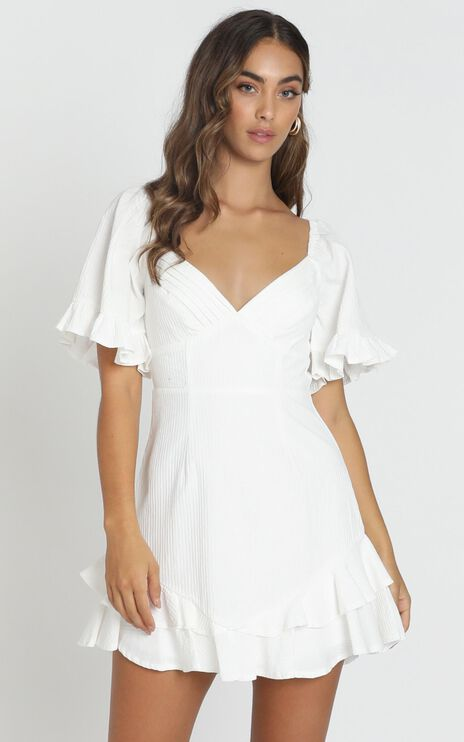 Hanna Mini Dress in White