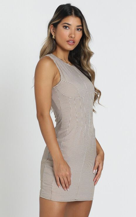 Lioness - Le Chateau Mini Dress in Gingham