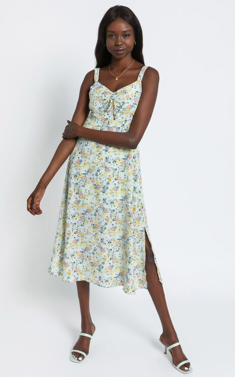 Lalla Dress in Mint Floral