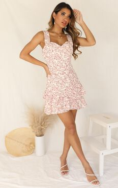 We Made It Dress in Peach Floral
