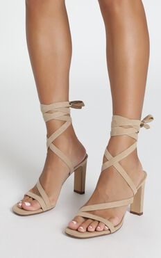 Therapy - Lorelei Heels In Cashew Micro