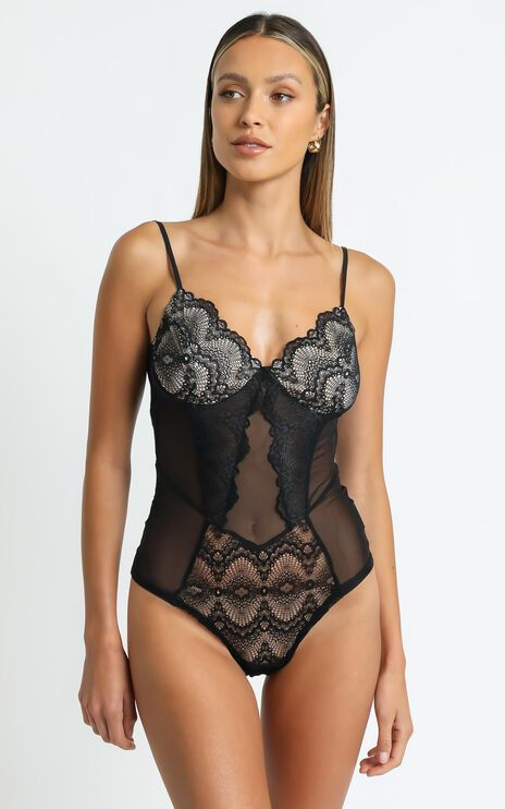 Alissa Bodysuit in Black Lace