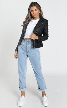 Same Language Jacket In Black Leatherette