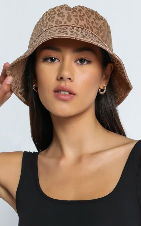 Thania Hat in Beige Leopard