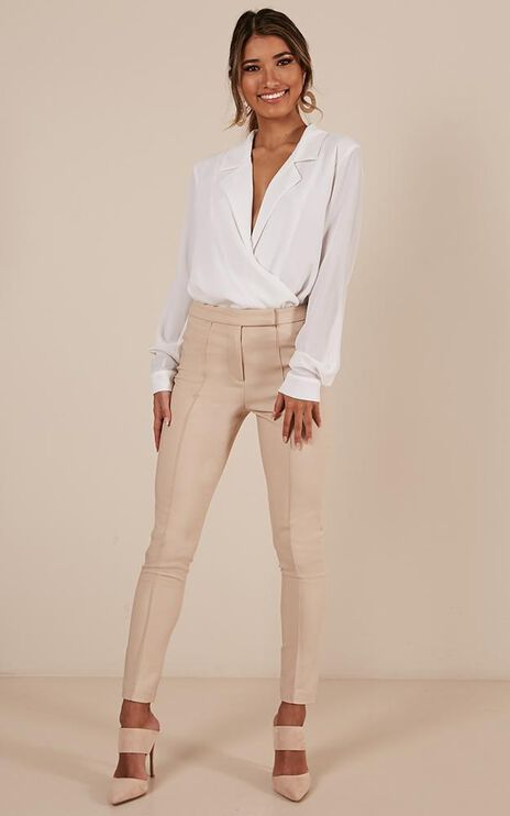 Switching Places Top In White