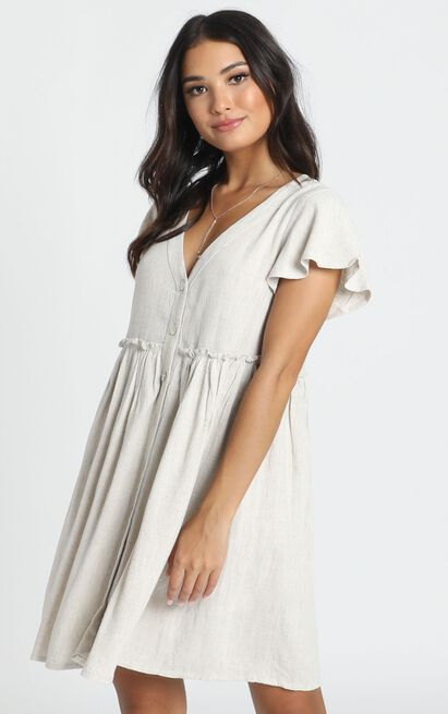 Want Attention Dress in beige - 14 (XL), Beige, hi-res image number null