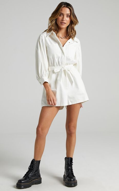 Aoko Playsuit in White