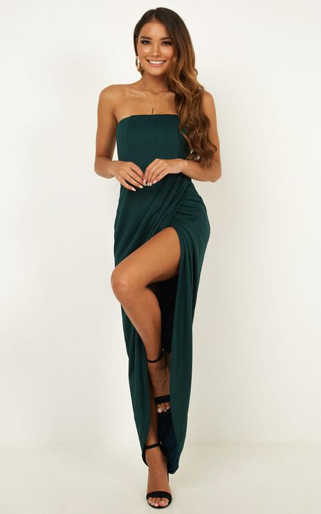 Already Home Dress in Emerald