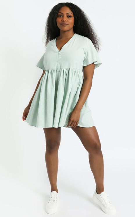 Staycation Dress in Light Sage