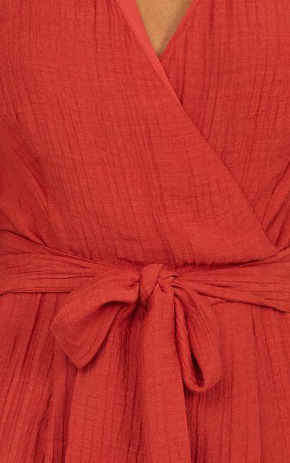 Writers Retreat Jumpsuit in rust linen look - 20 (XXXXL), Rust, hi-res image number null