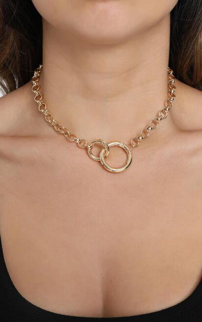 Big Launch Double Loop Necklace in Gold, , hi-res image number null