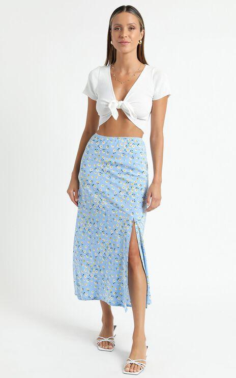 Massachusetts Skirt in Blue Floral
