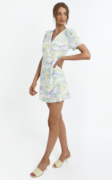 Chandler Dress in Blue Floral