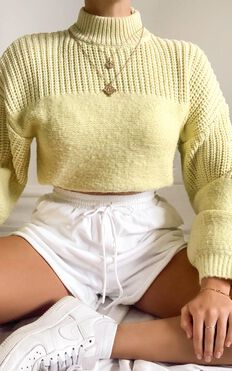 Dakota Knit Jumper in Yellow