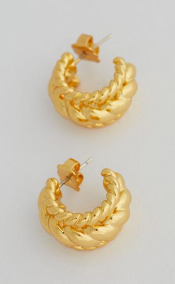 HAYES HOOP EARRINGS in Gold