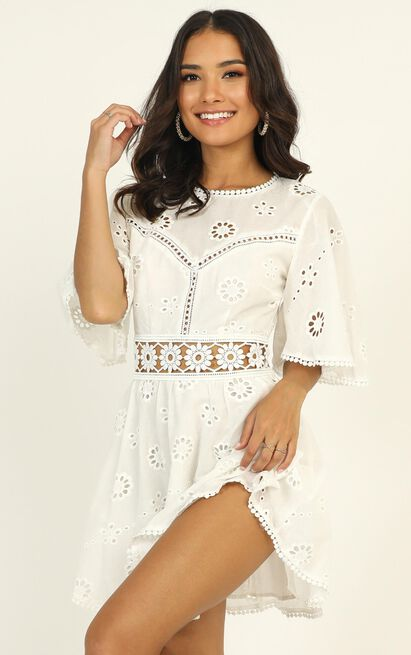 The Night Is Young dress in white lace - 12 (L), White, hi-res image number null
