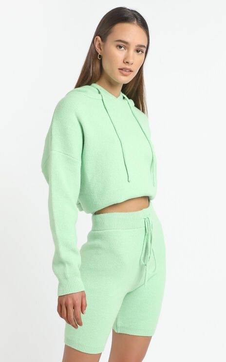 Cosy Club Knit Shorts in Mint