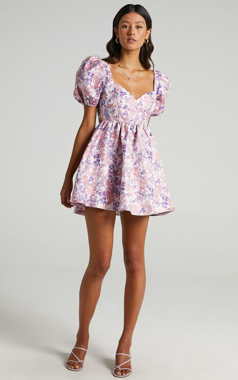 Nicolette Dress in Multi Floral