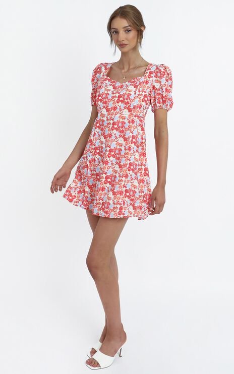 Wilma Dress in Pink Floral