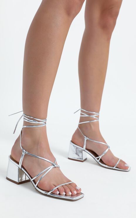 Therapy - Ariva Heels in Silver Metallic