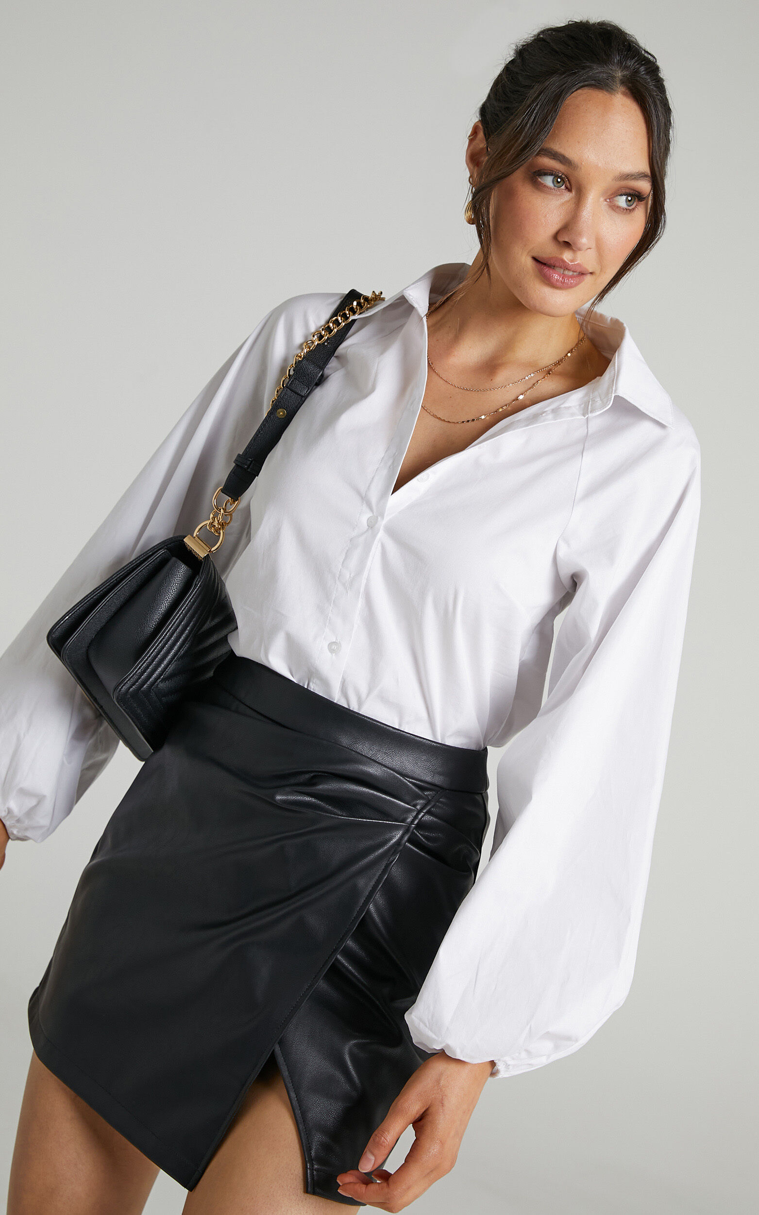 Kinsley Longsleeve Collared Button Up Shirt in White - 04, WHT1, super-hi-res image number null