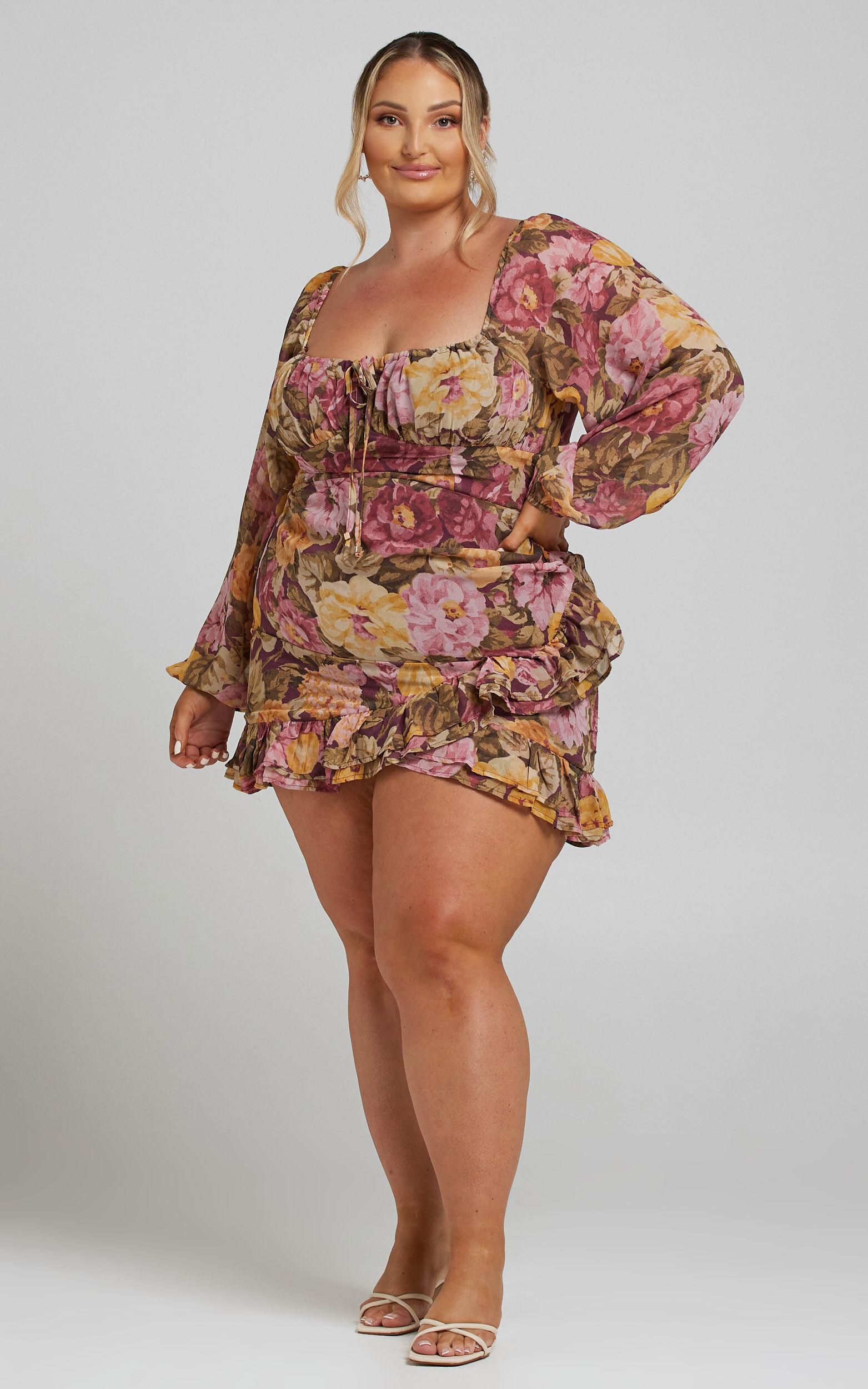 Grizela Dress in Classic Floral - 04, PNK1, super-hi-res image number null